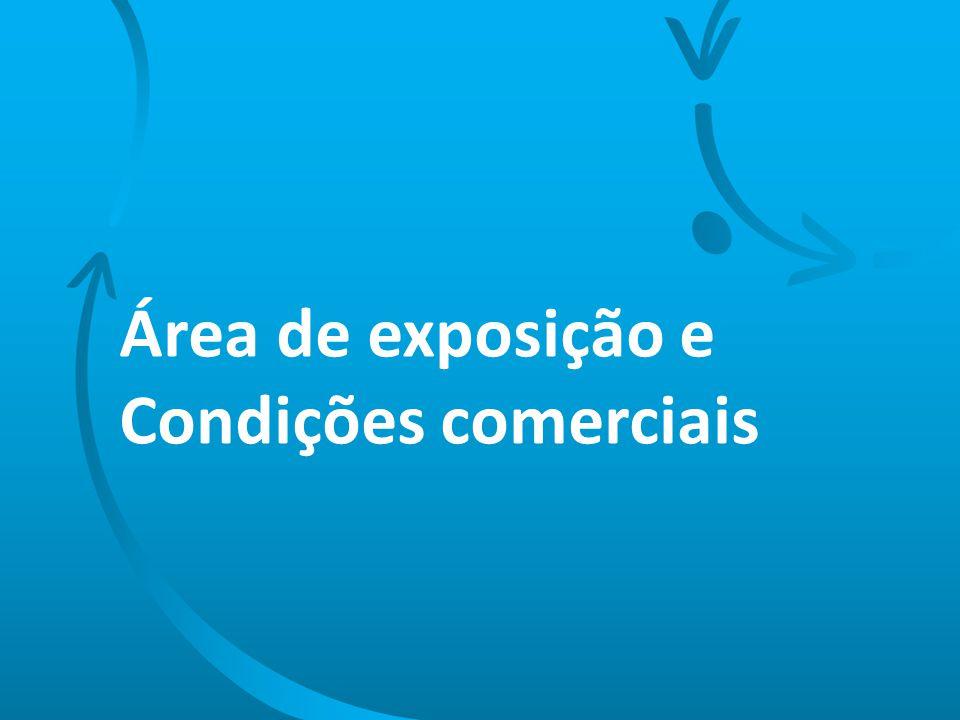 Área de exposição e Condições comerciais