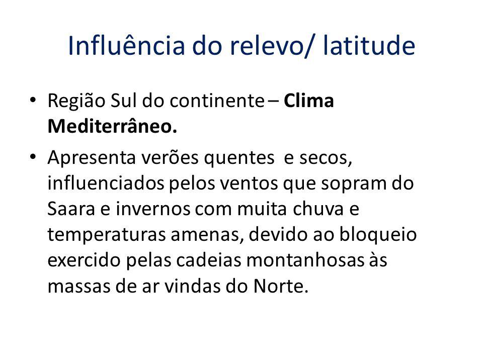 Influência do relevo/ latitude