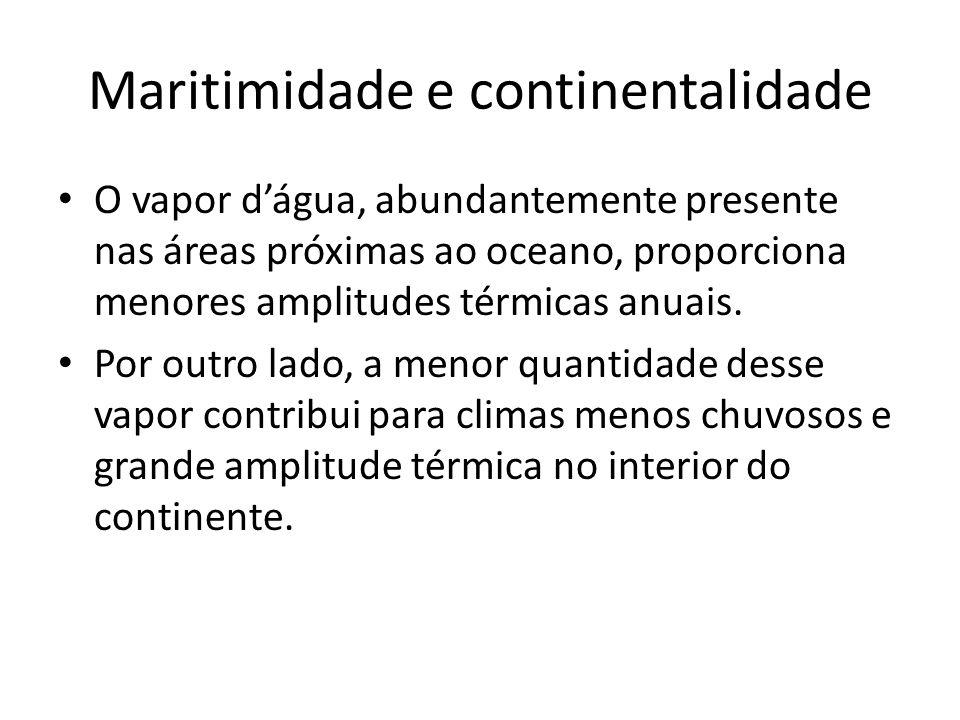 Maritimidade e continentalidade