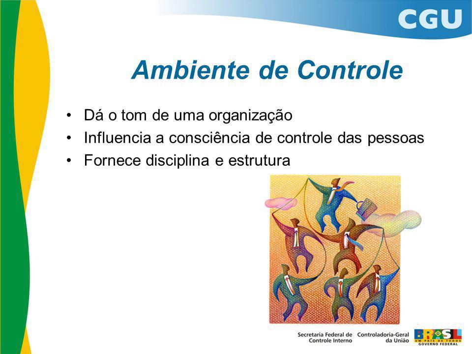 Ambiente de Controle Dá o tom de uma organização