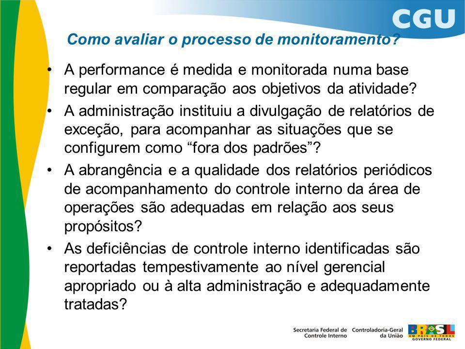 Como avaliar o processo de monitoramento