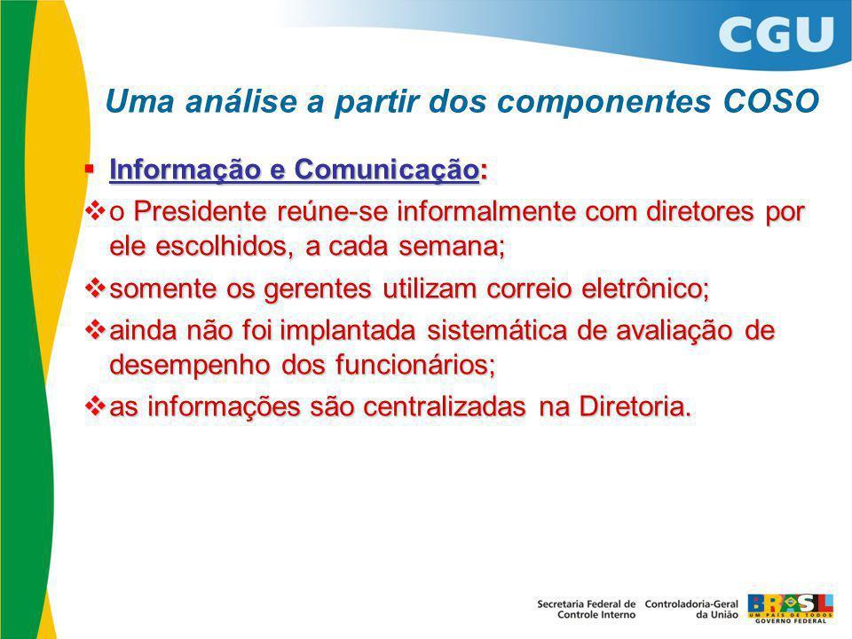 Uma análise a partir dos componentes COSO