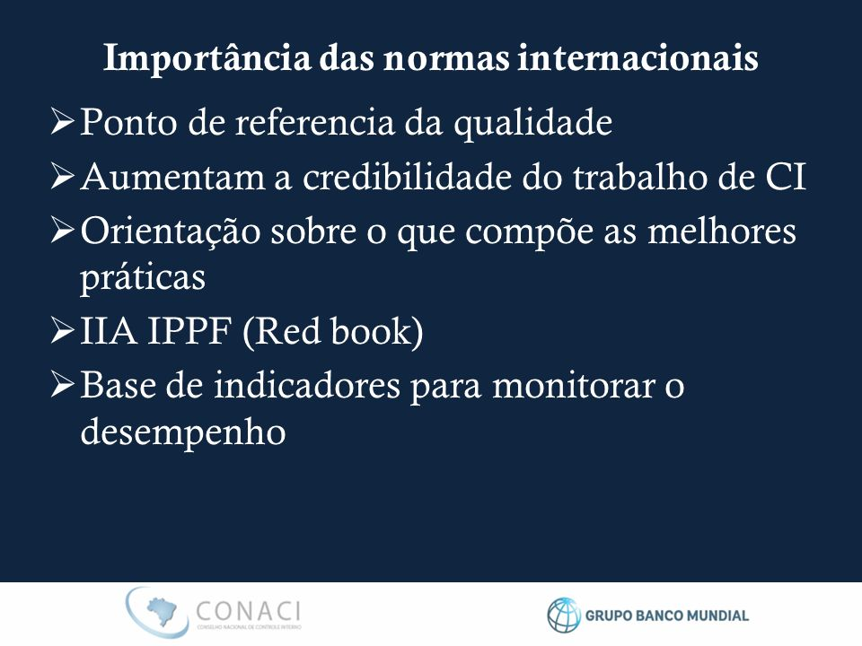 Importância das normas internacionais
