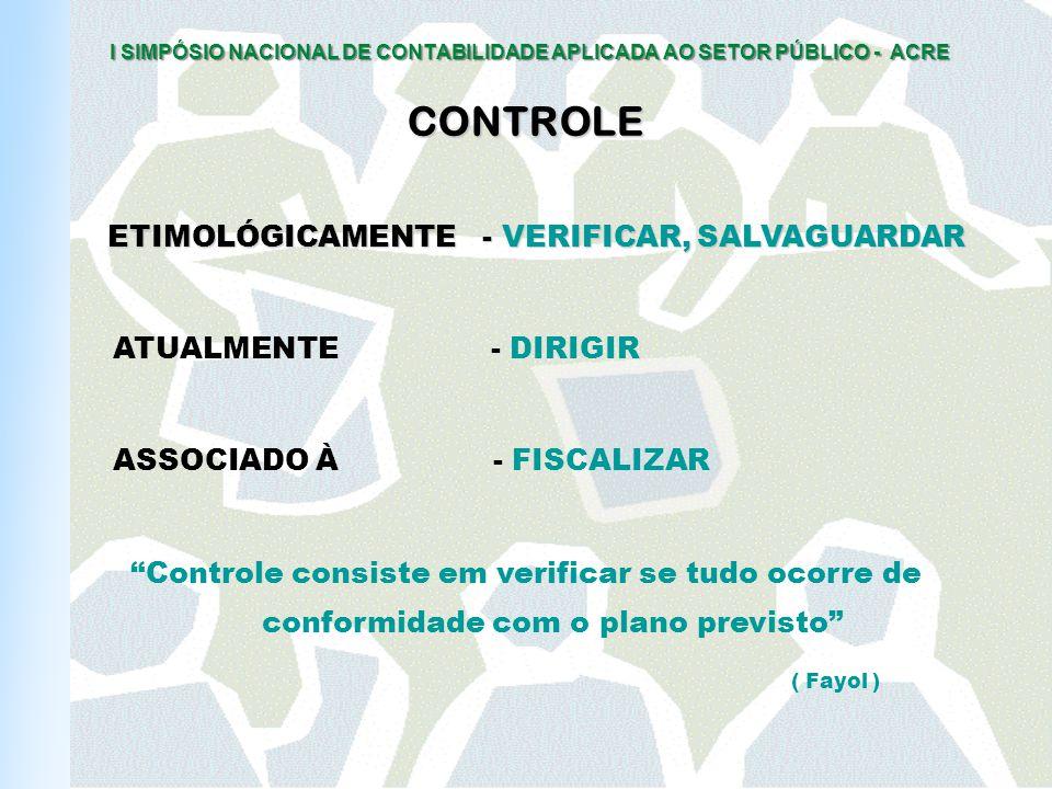 CONTROLE ETIMOLÓGICAMENTE - VERIFICAR, SALVAGUARDAR