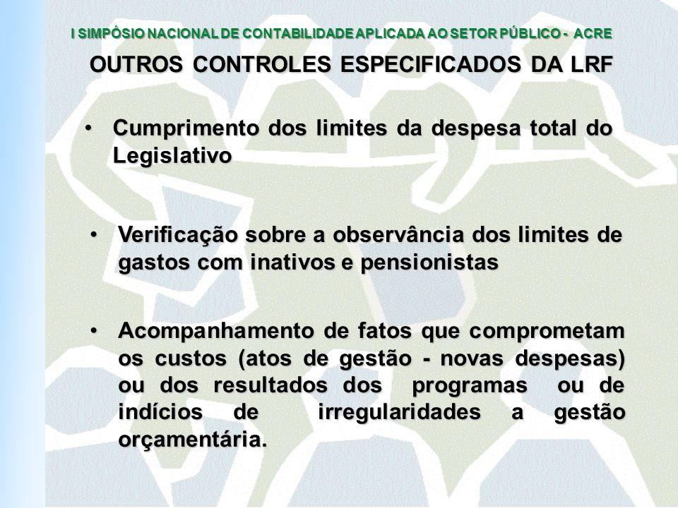 OUTROS CONTROLES ESPECIFICADOS DA LRF