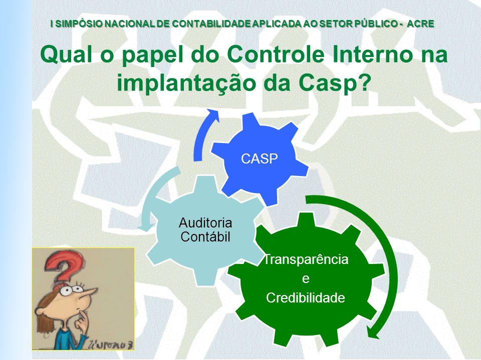 Qual o papel do Controle Interno na implantação da Casp