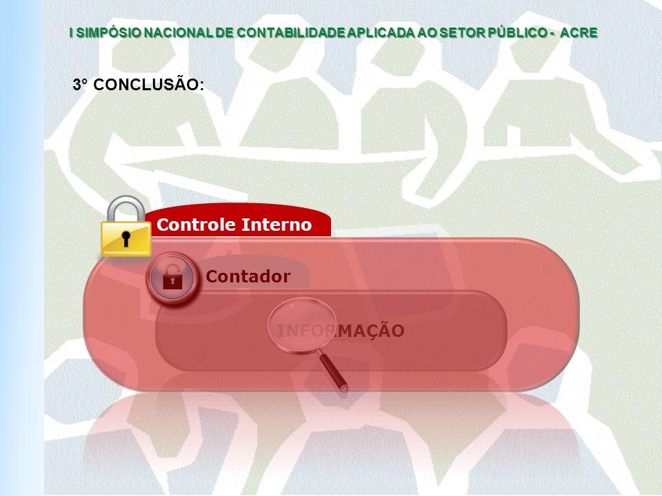 3° CONCLUSÃO: Controle Interno Contador INFORMAÇÃO