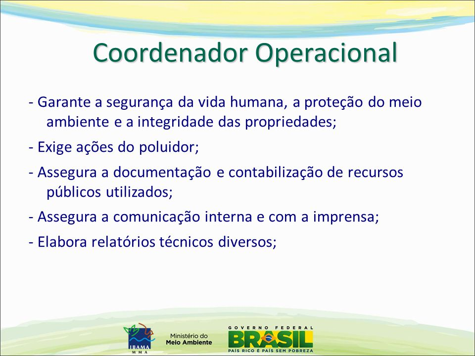 Coordenador Operacional