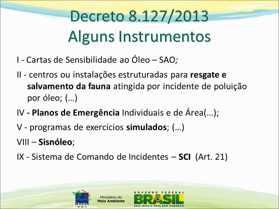 Decreto 8.127/2013 Alguns Instrumentos