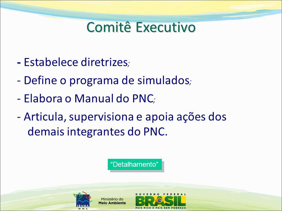 Comitê Executivo - Estabelece diretrizes;