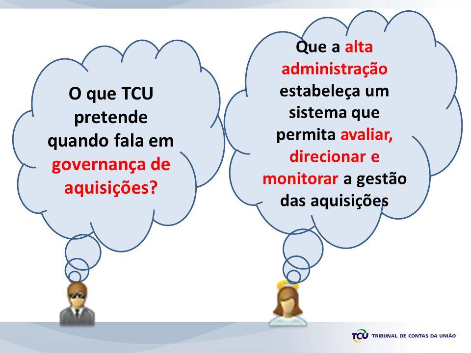 O que TCU pretende quando fala em governança de aquisições