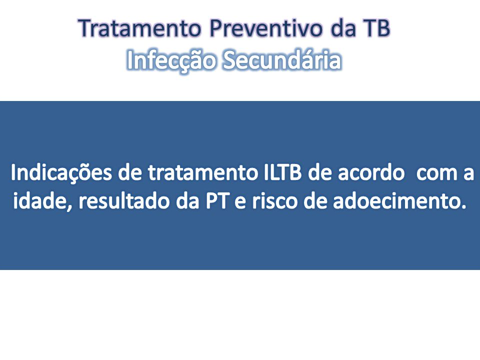 Tratamento Preventivo da TB Infecção Secundária