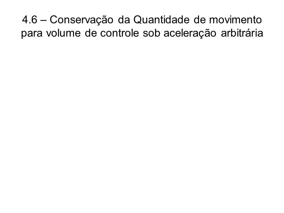 4.6 – Conservação da Quantidade de movimento para volume de controle sob aceleração arbitrária