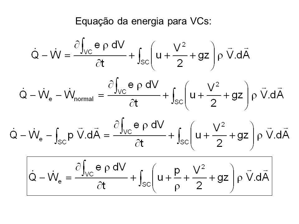 Equação da energia para VCs: