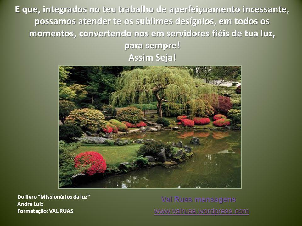 Do livro Missionários da luz André Luiz Formatação: VAL RUAS