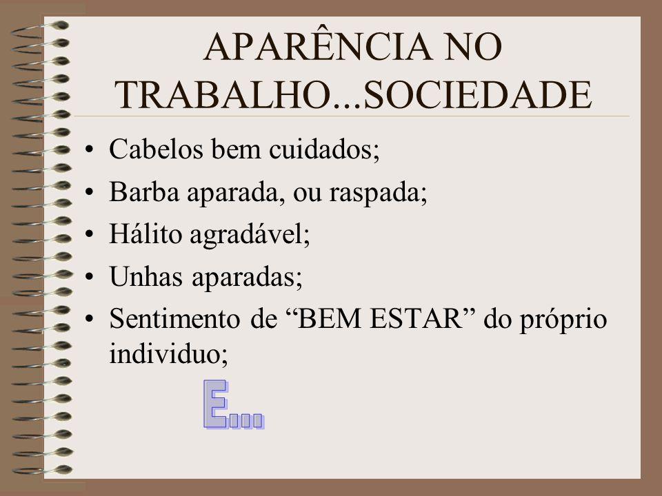 APARÊNCIA NO TRABALHO...SOCIEDADE