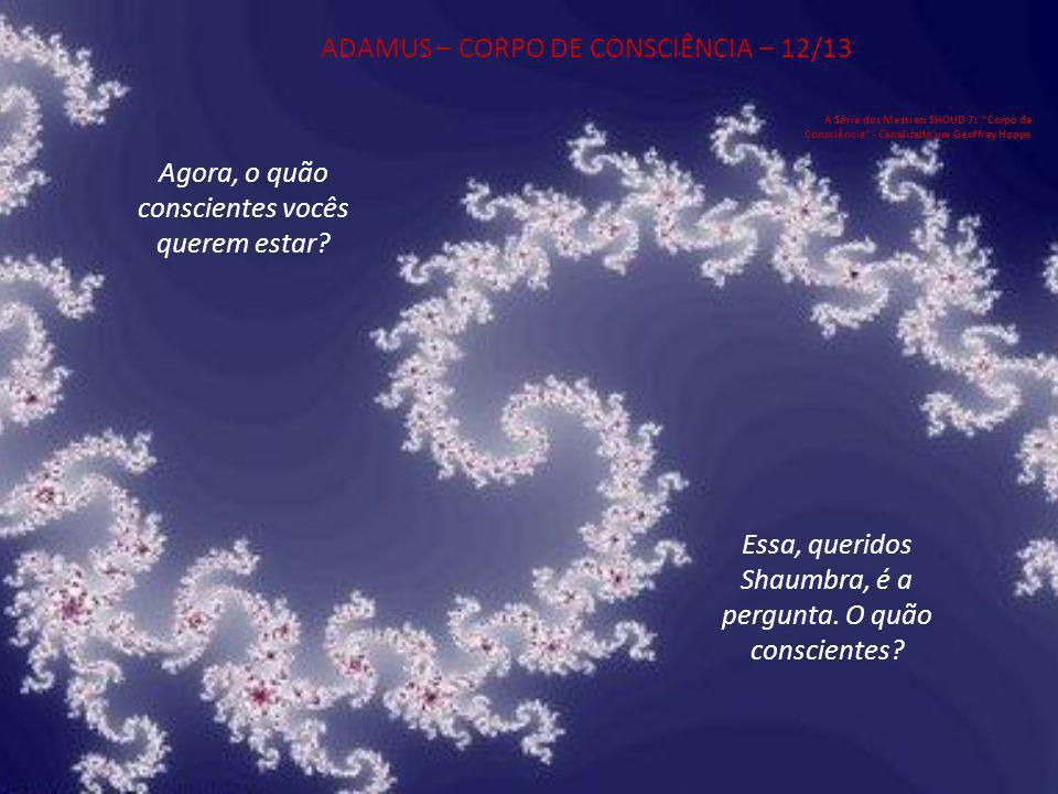 ADAMUS – CORPO DE CONSCIÊNCIA – 12/13