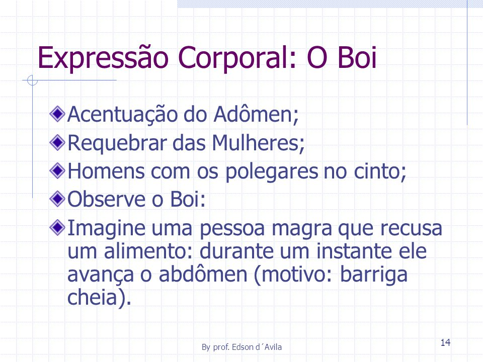 Expressão Corporal: O Boi