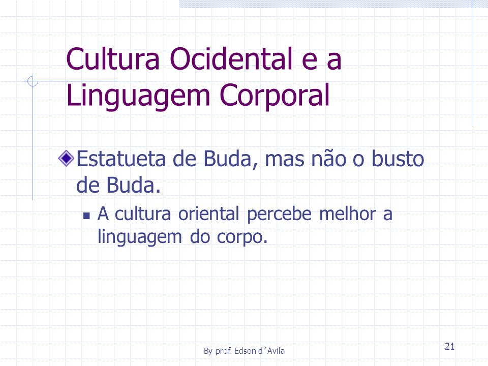 Cultura Ocidental e a Linguagem Corporal