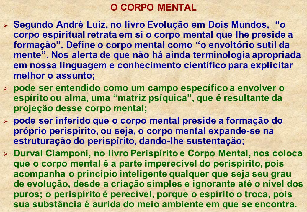 O CORPO MENTAL