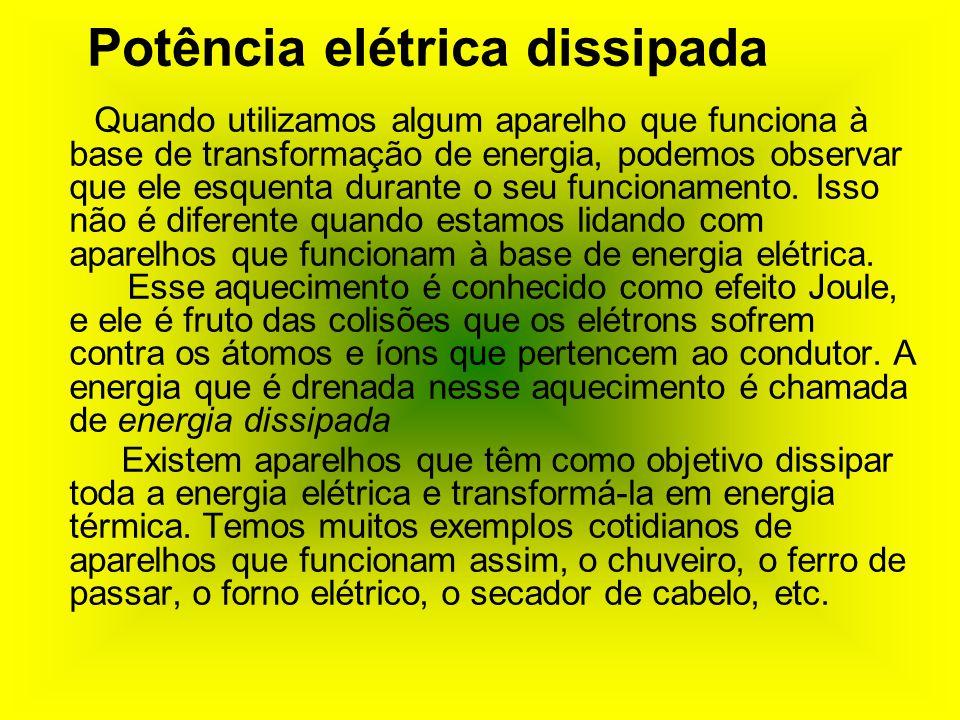 Potência elétrica dissipada