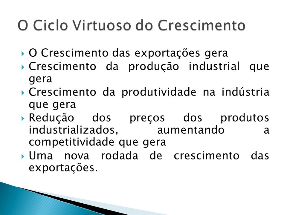 O Ciclo Virtuoso do Crescimento