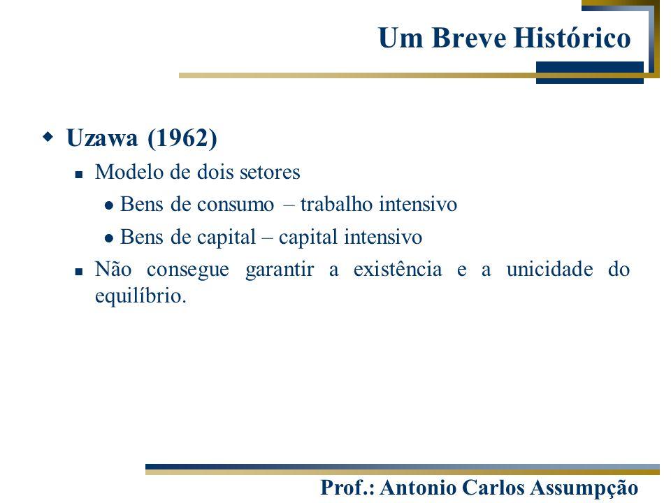 Um Breve Histórico Uzawa (1962) Modelo de dois setores