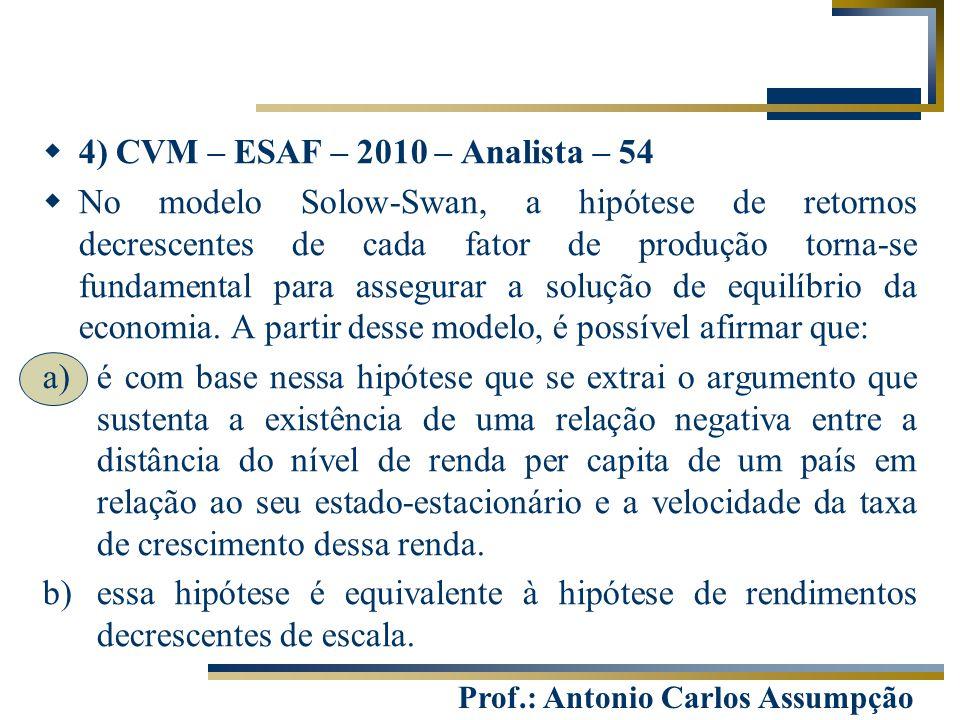 4) CVM – ESAF – 2010 – Analista – 54