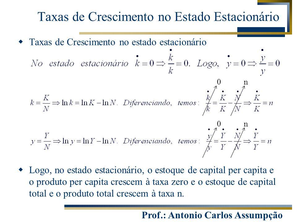 Taxas de Crescimento no Estado Estacionário