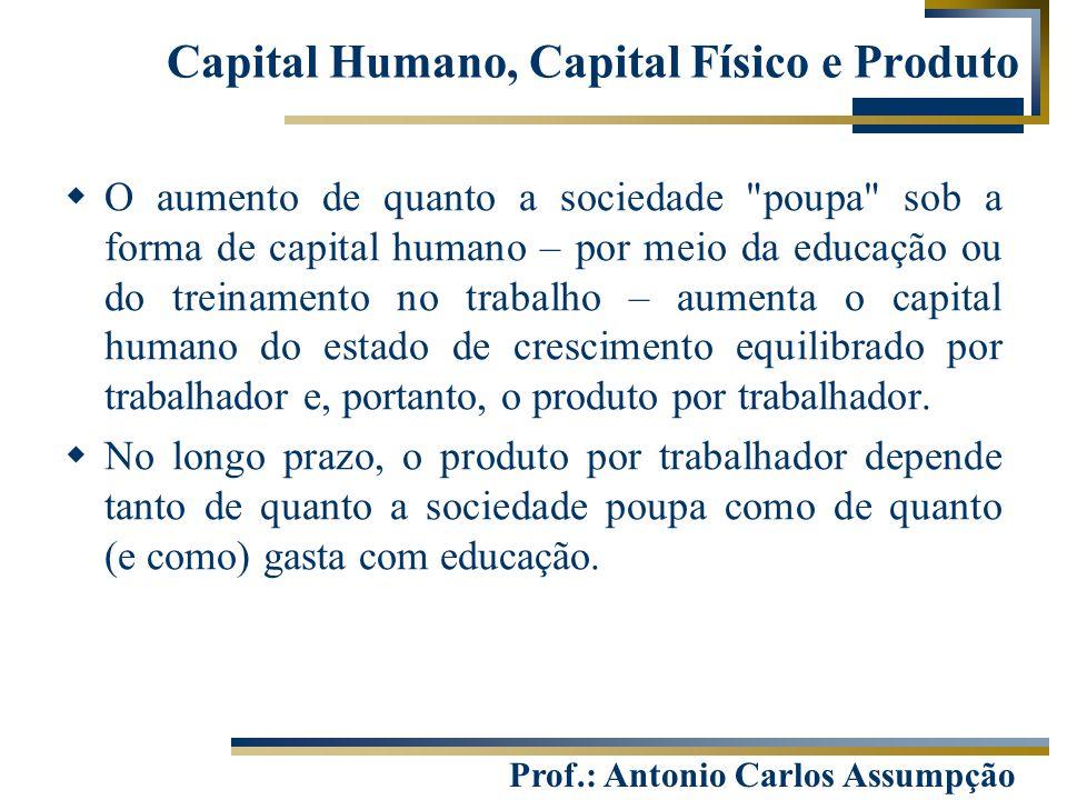 Capital Humano, Capital Físico e Produto