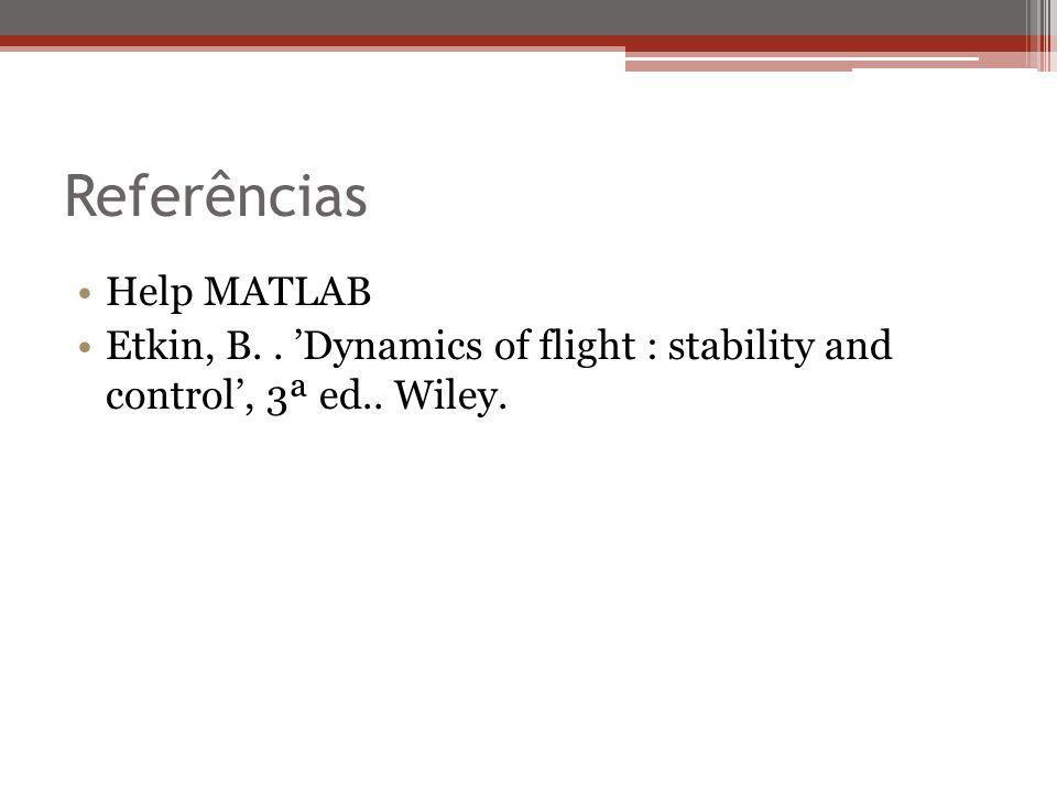 Referências Help MATLAB