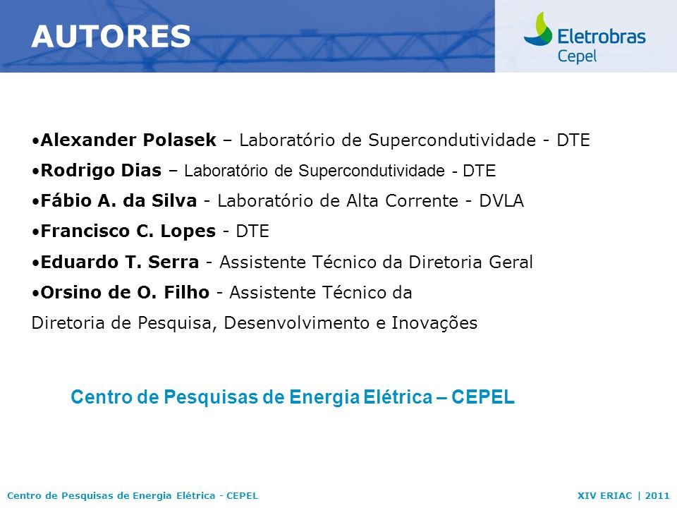 Centro de Pesquisas de Energia Elétrica – CEPEL