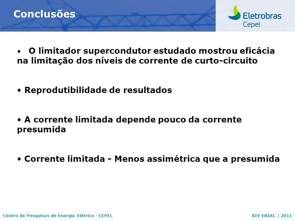 Conclusões Reprodutibilidade de resultados