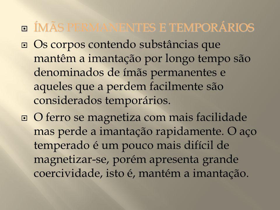 ÍMÃS PERMANENTES E TEMPORÁRIOS