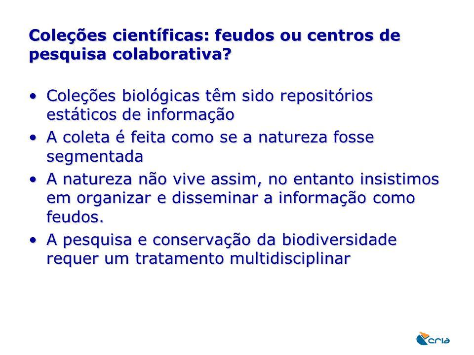 Coleções científicas: feudos ou centros de pesquisa colaborativa
