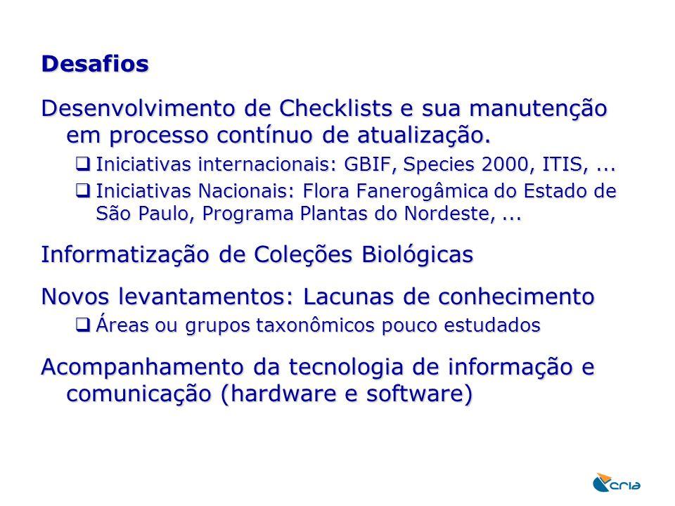 Informatização de Coleções Biológicas