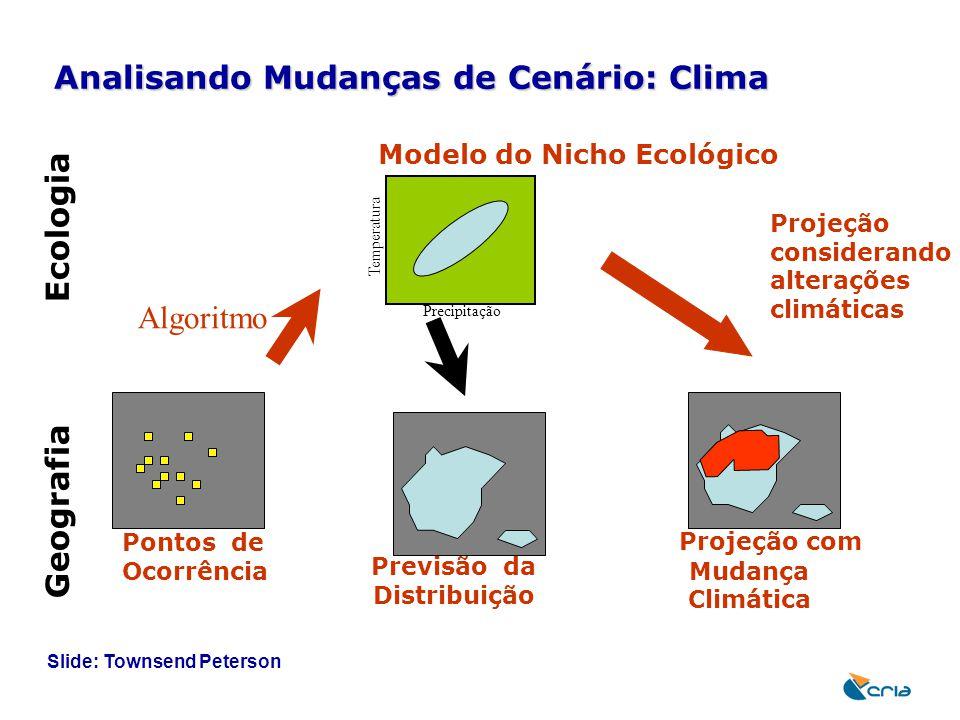 Analisando Mudanças de Cenário: Clima