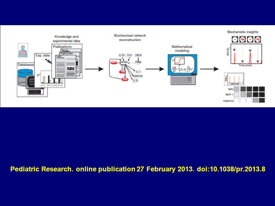 Pediatric Research. online publication 27 February 2013. doi:10