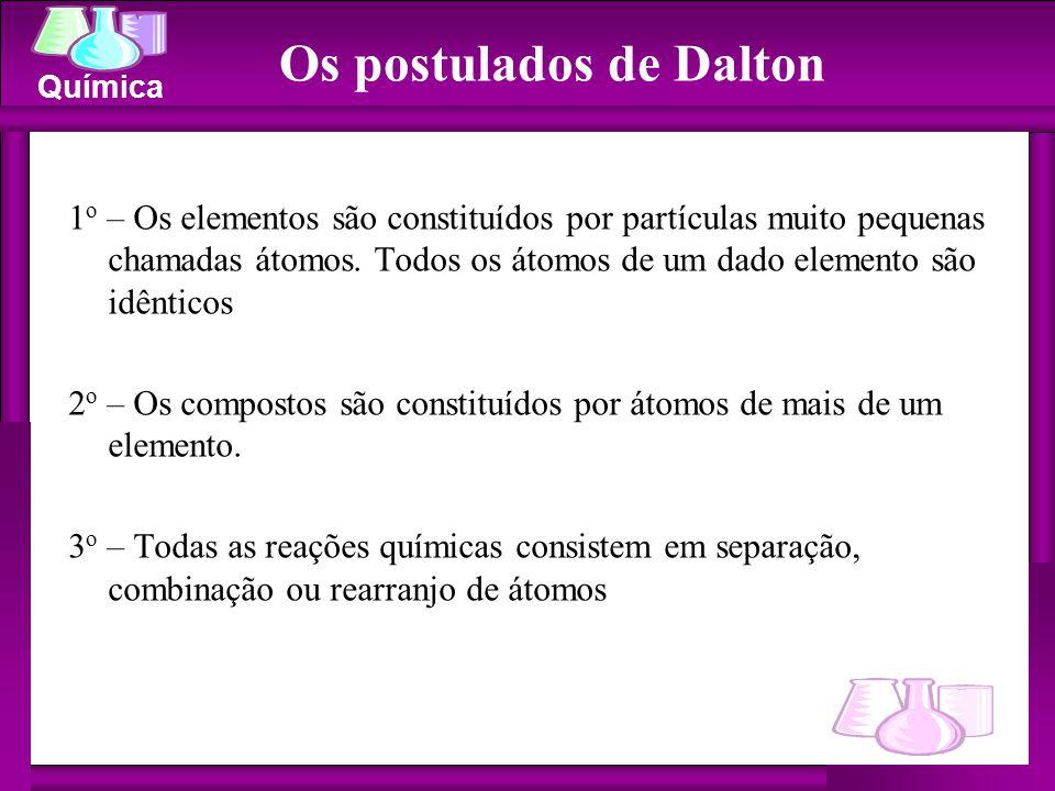 Os postulados de Dalton