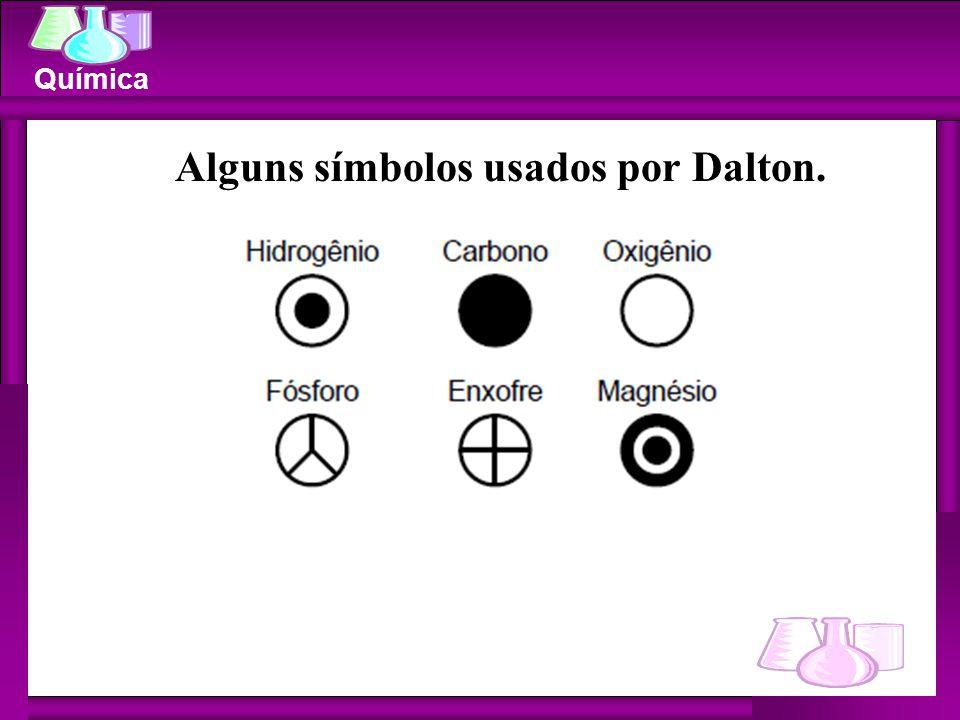 Alguns símbolos usados por Dalton.