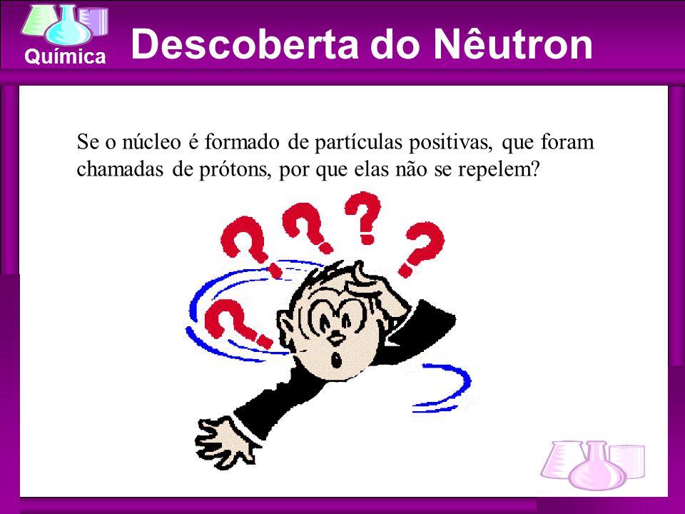 Descoberta do Nêutron Se o núcleo é formado de partículas positivas, que foram chamadas de prótons, por que elas não se repelem