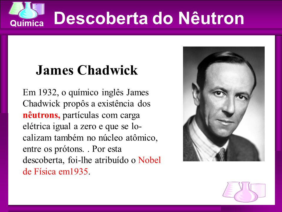 Descoberta do Nêutron James Chadwick