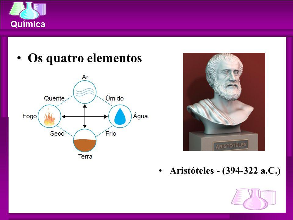 Os quatro elementos Aristóteles - (394-322 a.C.)