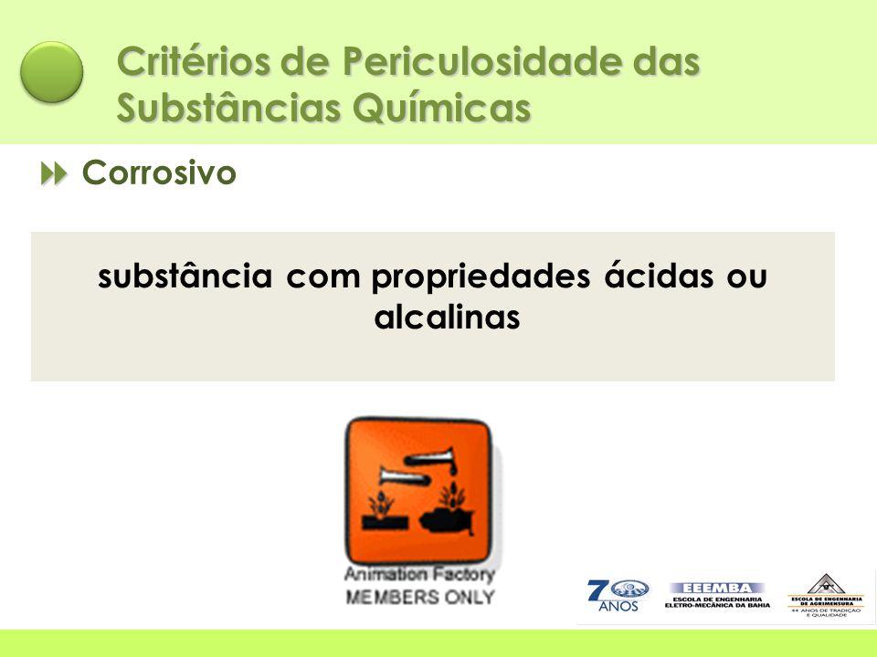 substância com propriedades ácidas ou alcalinas