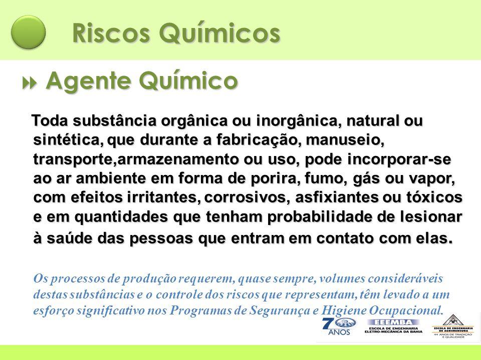 Riscos Químicos  Agente Químico