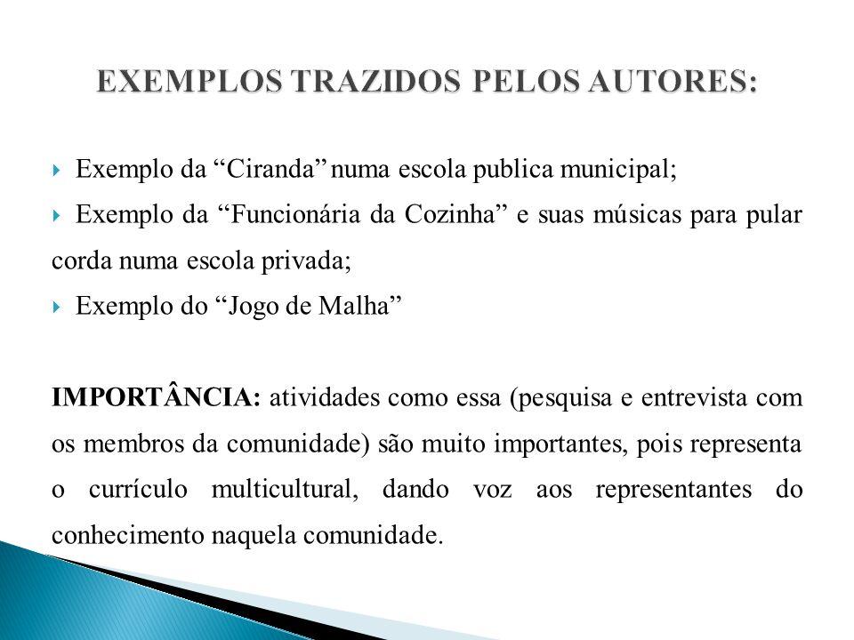 EXEMPLOS TRAZIDOS PELOS AUTORES: