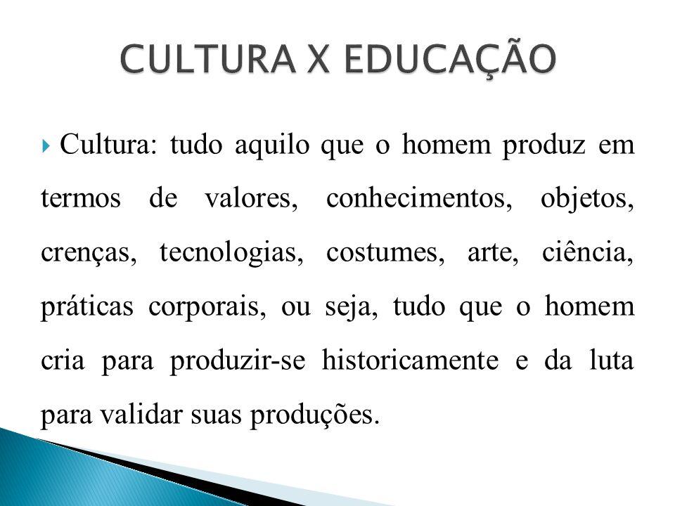 CULTURA X EDUCAÇÃO
