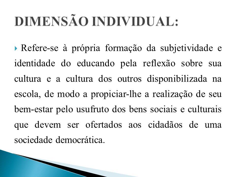DIMENSÃO INDIVIDUAL: