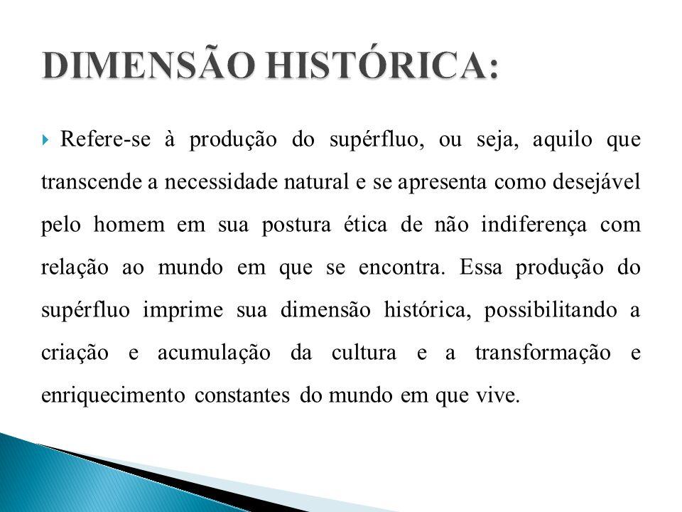 DIMENSÃO HISTÓRICA:
