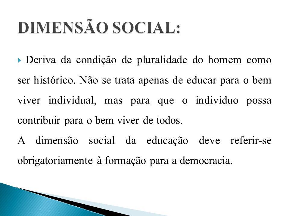 DIMENSÃO SOCIAL: